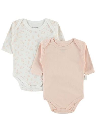 Civil Baby Civil Baby Kiz Bebek 2'li Çitçitli Badi 0-24 Ay Somon Civil Baby Kiz Bebek 2'li Çitçitli Badi 0-24 Ay Somon Somon